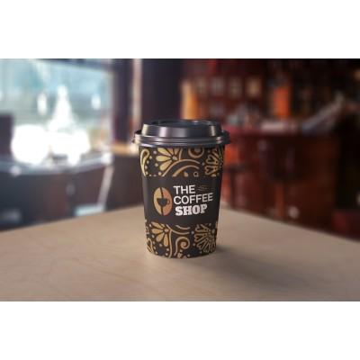 """Ποτήρι Χάρτινο """"Σχέδιο Coffee Shop"""" 4oz, 8oz, 12oz και 14oz"""